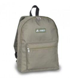 "30 Units of Everest Basic Color Block Backpack In Olive - Backpacks 15"" or Less"