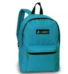 """30 Units of Everest Basic Color Block Backpack In Turquoise - Backpacks 15"""" or Less"""