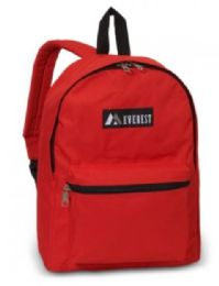 """30 Units of Everest Basic Color Block Backpack In Red - Backpacks 15"""" or Less"""