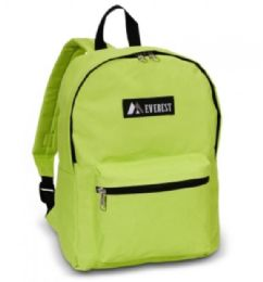 "30 Units of Everest Basic Color Block Backpack In Lime - Backpacks 15"" or Less"