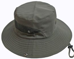 24 Units of Adult Vented Sun Hat - Assorted Colors - Bucket Hats