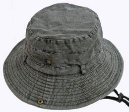 36 Units of Adult Stonewash Heavy Denim Fishermen Hat - Bucket Hats