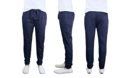 24 Units of Men's Cotton Stretch Twill Joggers In Navy - Mens Pants