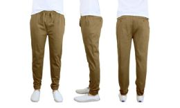 24 Units of Men's Cotton Stretch Twill Joggers In Timber - Mens Pants