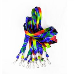 600 Units of Tie Dye Lanyard With J Hook - Id card