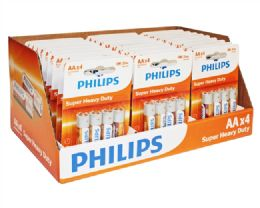 120 Units of Super Heavy Duty Aa Philips Battery In Pdq Display Box - Batteries