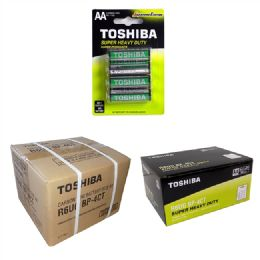 144 Units of AA TOSHIBA Heavy Duty Batteries - Batteries