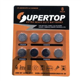 72 Units of Assorted Button Cell Batteries 8 Pcs - Batteries