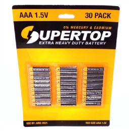 48 Units of 30 Pack AAA Heavy Duty Batteries - Batteries