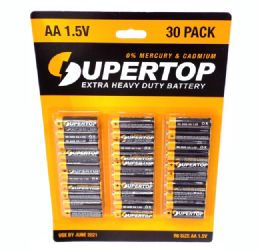 48 Units of 30 Pack AA Heavy Duty Batteries - Batteries