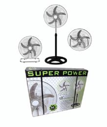 18 Inches 3 In 1 With 120 Degrees Oscillation Industrial Fan - Electric Fans