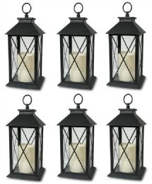 6 Units of Battery Operated Candle X Design - Lamps and Lanterns