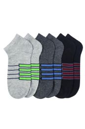 216 Units of L.Weight Men's Spandex Ankle Socks Size 10-13 - Mens Ankle Sock