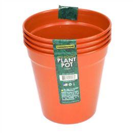 24 Units of 5 Inches Plastic Plant Pot 4 Pieces - Garden Planters and Pots