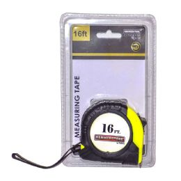 72 Units of 16 Foot Measuring Tape Hanging Clamshell Packing - Tape Measures and Measuring Tools
