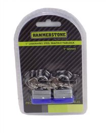 48 Units of 2 In 1 Laminated Steel Shackle Padlock - Padlocks and Combination Locks