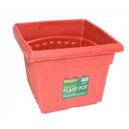 96 Units of 1 Piece Square Plastic Plant Pot 350g - Garden Planters and Pots