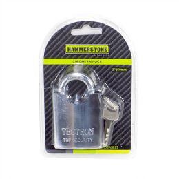 48 Units of 50mm Chrome Padlock Concealed Shackle - Padlocks and Combination Locks