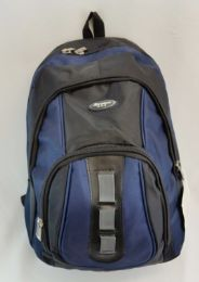 """24 Units of 19 Inch Constructed Heavy Duty Backpack In Black And Navy - Backpacks 18"""" or Larger"""