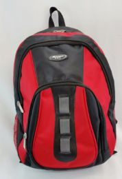 """24 Units of 19 Inch Constructed Heavy Duty Backpack In Red And Black - Backpacks 18"""" or Larger"""