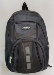"24 Units of 19 Inch Constructed Heavy Duty Backpack In Black - Backpacks 18"" or Larger"