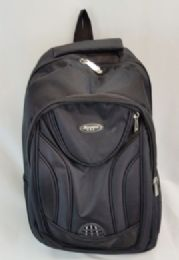 """24 Units of 19 Inch Constructed Heavy Duty Backpack In Black - Backpacks 18"""" or Larger"""