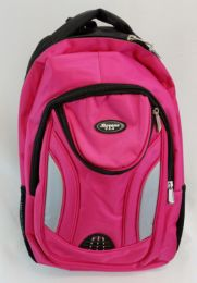 """24 Units of 19 Inch Constructed Heavy Duty Backpack In Hot Pink - Backpacks 18"""" or Larger"""