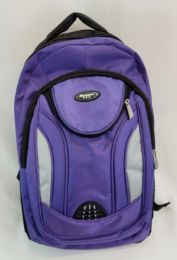 """24 Units of 19 Inch Constructed Heavy Duty Backpack In Purple - Backpacks 18"""" or Larger"""