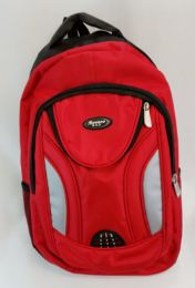 """24 Units of 19 Inch Constructed Heavy Duty Backpack In Red - Backpacks 18"""" or Larger"""