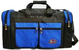 24 Units of 24 Inch Royal Blue Heavy Duty Duffel Bag - Duffel Bags