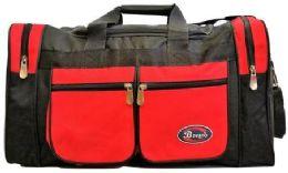 24 Units of 30 Inch Red Heavy Duty Duffel Bag - Duffel Bags