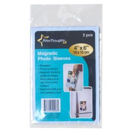 72 Units of 2pk Magnetic Photo Sleeves - Memo Holders and Magnets
