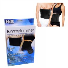 72 Units of 10 Inch Tummy Belt Men And Women - Bandages and Support Wraps