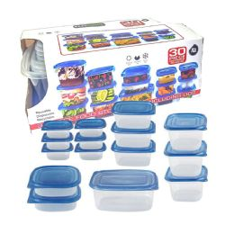 12 Units of 30 Pieces Plastic Storage - Food Storage Containers