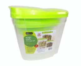 12 Units of 3 Piece Airtight Plastic Storage Set - Food Storage Containers