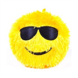 18 Units of 24 Inch Fuzzy Emoji Inflatable Ball - Balls