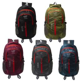 """24 Units of 20"""" Premium Sport Backpacks in 5 Assorted Colors - Backpacks 18"""" or Larger"""