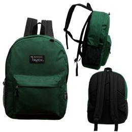 """24 Units of 17 Inch Classic Bulk Green Backpacks - Backpacks 17"""""""