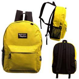 "24 Units of 17 Inch Classic Bulk Mustard Backpacks - Backpacks 17"""