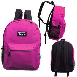 """24 Units of 17 Inch Classic Bulk Backpacks In Fuchsia - Backpacks 17"""""""