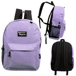 """24 Units of 17 Inch Classic Bulk Backpacks In Purple - Backpacks 17"""""""