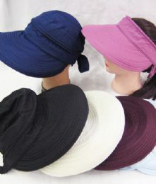 24 Units of Women's Sun Visor In Assorted Colors - Sun Hats