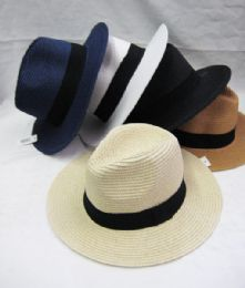 24 Units of Assorted Color Fedora Hat - Fedoras, Driver Caps & Visor