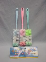 36 Units of 3 Piece Plastic Baby Bottle Brush - Baby Utensils