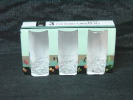 24 Units of 3 Piece Glass Tumbler Set - Glassware