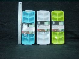 36 Units of 2 Piece Plastic Ice Cube Tray - Freezer Items