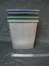 48 Units of Plastic Rectangular Trash Can - Waste Basket