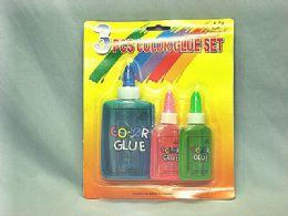 48 Units of 3 Piece Color Glue Set - Glue