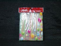 36 Units of 200 Piece Stripped Straws - Straws and Stirrers
