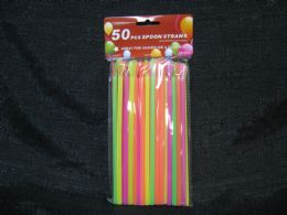 48 Units of 50 Piece Spoon Straws - Straws and Stirrers